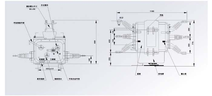 ZW20-12G/630-20真空断路器结构